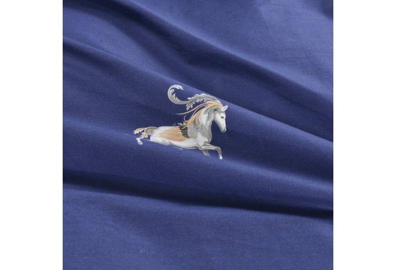 Алексия (синяя) КПБ сатин 1.6