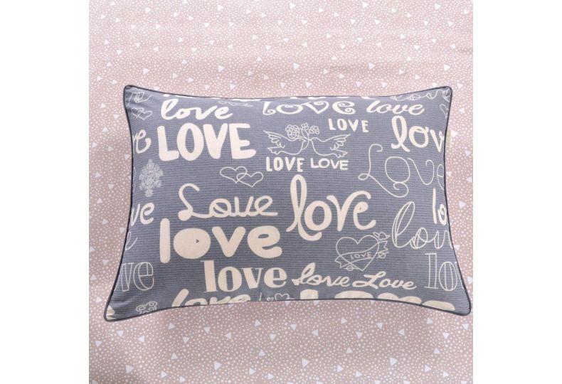 Love (розовая) КПБ сатин 1.6