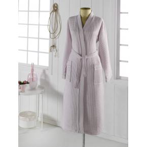 NEVA L (светло сирень) Халат вафельный кимоно