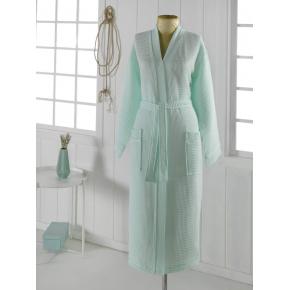 NEVA XL (ментол) Халат вафельный кимоно
