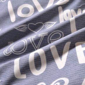 Love (розовая) КПБ сатин Евро 4н