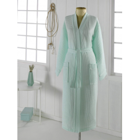 NEVA L (ментол) Халат вафельный кимоно